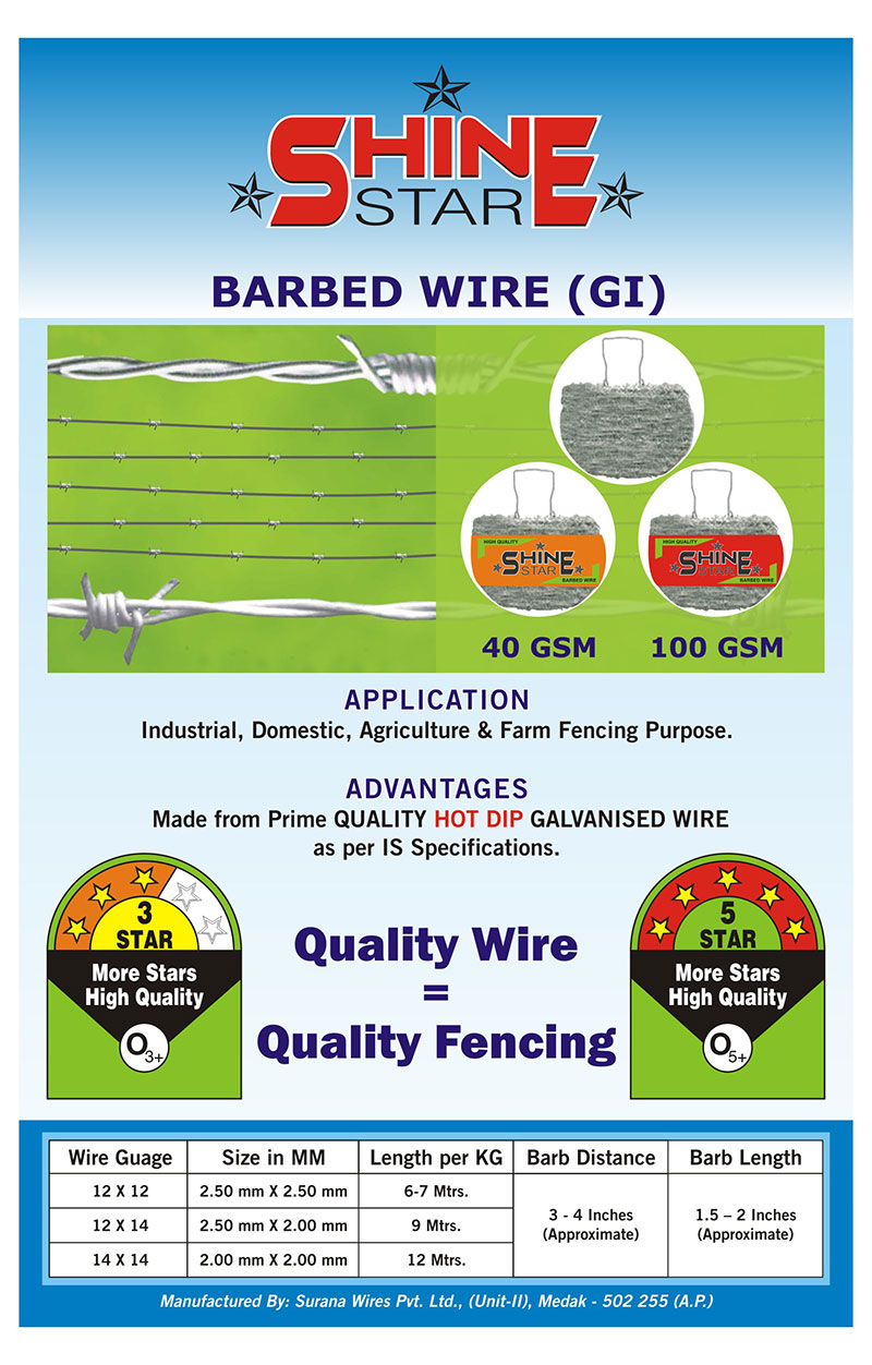 Barbed wire fencing contractors barbed wire weight per meter barbed wires weight per meter in coimbatore madurai chennai trichy tamilnadu greentooth